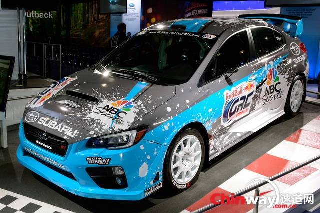 2014纽约车展:斯巴鲁WRX STI Global Rallycross Car